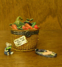 Boyds Treasure Box  #392132 Tillie's Veggie Basket 2nd Ed, NIB From Retail Store