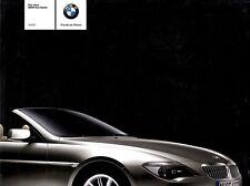 BMW 6 6er E64 645i CABRIO Cabriolet Convertible Prospekt Brochure 2003 /29