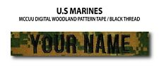 Custom US MARINES Name Tape (Woodland) For Sew-On *Name is Required*