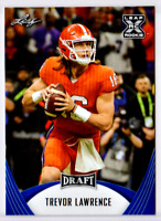 """MINT"" TREVOR LAWRENCE 2021 LEAF DRAFT ""BLUE PARALLEL"" ROOKIE CARD #01! CLEMSON!"