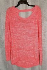 Charlotte Russe Orange White Open Back Sweater XL NEW