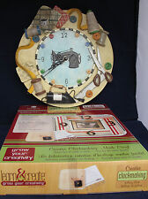 Sewing Theme Clock For Sewers & Quilters Used and Clock Craft Making Set Kit NIB