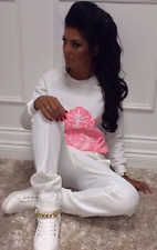 pink boutique opus london white coral bright tracksuit uk12