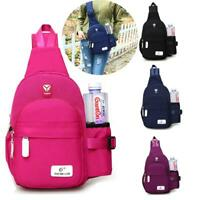 Women Men Nylon Crossbody Shoulder Chest Sport Cycle Sling Bag Travel Backpack