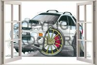Huge 3D Koolart Window view Subaru Impreza Wagon Wall Sticker Poster 1376