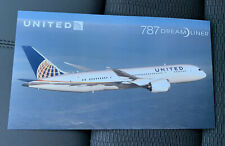 United Airlines Boeing 787 Welcome Aboard Card