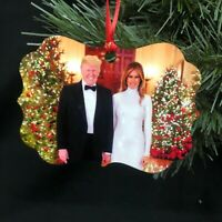 TRUMP 2020 President Trump and first lady Melania CHRISTMAS ORNAMENT Maga Kag