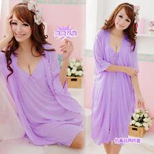Style Sling Lingerie Sleepwear Silk Robe Nightgown Lingerie Pajamas