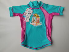 NEW Bright Bots baby girl rash top bathers UPF 50+ size 0 Fits 6-12 m RRP $32.95