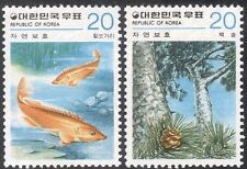 Korea 1979 poissons/Pine tree/Plantes/la conservation de la Nature/faune 2 V Set (n27362)