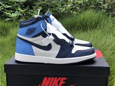 Nike Air Jordan 1 Retro High OG Basketball Shoes - Obsidian/University Blue