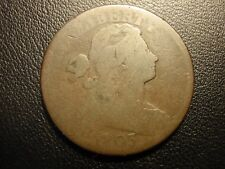 1803 draped bust large cent, small date large fraction