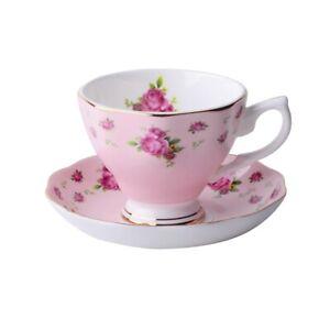 Precious Fine Bone China Tea Coffee Cup Saucer Set European Fashion Cafe Cup