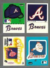 Vintage 80's ATLANTA BRAVES Sticker Lot of 4 Dale Murphy