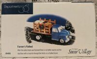 DEPT 56Snow Village FARMER'S FLATBED Truck FigurineMIB 54955 1998 Retired 2000