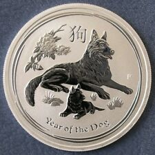 Perth Mint 2018 Lunar Year Of The Dog ½ oz Half Ounce 99.9% Silver Bullion Coin