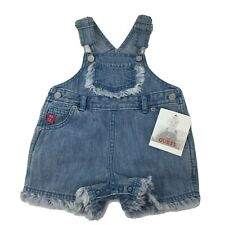 Baby Guess Light Denim Shortalls Infant Girls 6/9 Months