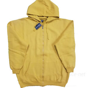 Zipper Hoodie Sweatshirt Mens Midweight Fleece Hooded Zip Sweater 6XL