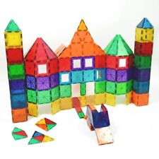 Magnetic Building Tiles Toys Play Set Playmags Shapes Kids 100 Piece Colorful