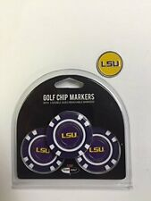 LSU Tigers 3- PACK POKER CHIPS with markers, BONUS EXTRA MARKER