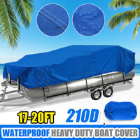 Heavy Duty 17-20ft Waterproof Trailerable Pontoon Fish Ski Boat Cover Protector