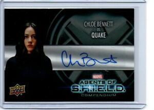 Marvel Agents of Shield Autograph Card AA-BC Chloe Bennett/Quake