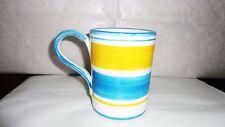 Bicchiere Giara in ceramica Sorrentina con manico decoro a fasce ml. 250 cm 10x8