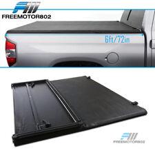 Fits 94-03 Chevrolet S10 GMC S15 6ft Bed Black Vinyl Tri-Fold Soft Tonneau Cover