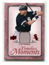 2008 Timeless Moments TM-13 Jim Thome White Sox Game-Used jh7