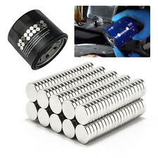 Car Engine Oil Filter 100pcs 6 X 15mm Strong Magnets Rare Earth Neodymium N35