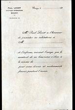 """BAUGY (18) DOCTEUR VETERINAIRE """"Paul LAVOT"""" en 1930 / Tiercé au verso"""