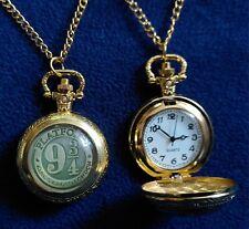 Harry Potter: Kette mit Gleis 9 3/4 Medaillon und Uhr