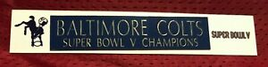 BALTIMORE COLTS  NAME PLATE FOR HELMET / FOOTBALL/ CARD /JERSEY / PHOTO