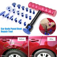 18pc Puller Tabs+T-Bar Car Body Panel Paintless Dent Removal Repair Pulling Tool