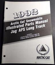 1992 ARCTIC CAT SNOWMOBILE JAG AFS LONG TRACK P/N 2254-746 PARTS MANUAL (123)