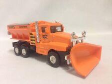 "Snow Plow Salt Truck 6"" Diecast  Metal With Swivel Plow  Toy Boys & Girls,Orange"