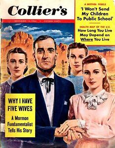 1953 November 13 COLLIER'S Magazine - Morman Fundamentalist His Story Polygamy