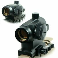 Tactical Reflex Red Green Dot Sight Scope with Dual Low / High Profile QR Mounts