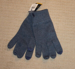 NEW Polo Ralph Lauren Pony Logo Cotton Wool Heathered Blue Gloves