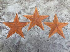 "Set of 3 GENUINE RUSTY BARN STARS 7 3/4"" PRIMITIVE COUNTRY DECOR - FREE SHIPPING"