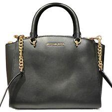 Michael Kors Ellis Large Satchel Leather Bag Black