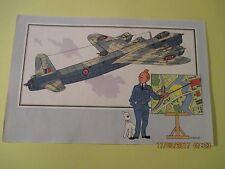"""Tintin Collection Voir et Savoir par Hergé """"Le timbre Tintin"""" Aviation"""