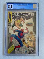 Amazing Spider-Man #57 CGC 8.5 White Pages! 1968 Ka-Zar and Zabu appearance