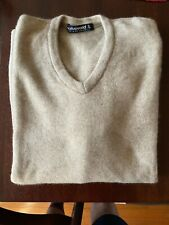 Native World wool-possum-silkV-neck pullover sweater Size-L Color-Flax