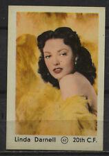 Linda Darnell Vintage Movie Film Star Trading Card No.62