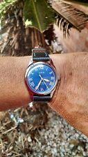 VINTAGE Military ORIS Mechanical 17Jewel Ocean Blue Dial Swiss made Wristwatch .