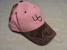 NEW Womens Pink Baseball Hat Country Western Heart Stitching DPC Girl Love Lady
