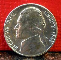 Beautiful GEM BU Silver 1944 D DDO-001 Jefferson War Nickel CONECA 1-O-I-CW