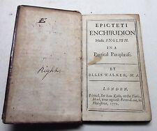 18th Century Book. Epicteti Enchiridion, English PoeticalParaphrase 1701. Poetry