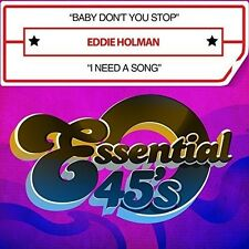 Eddie Holman - Baby Don't You Stop / I Need A Song [New CD] Manufactured On Dema